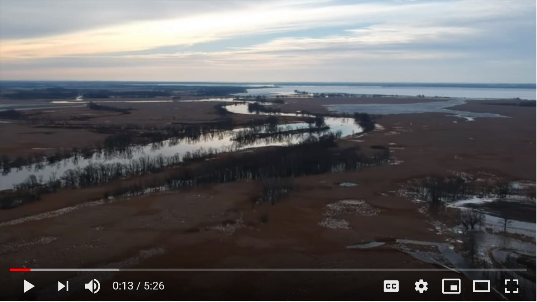 Wolf River Drone Footage March 24